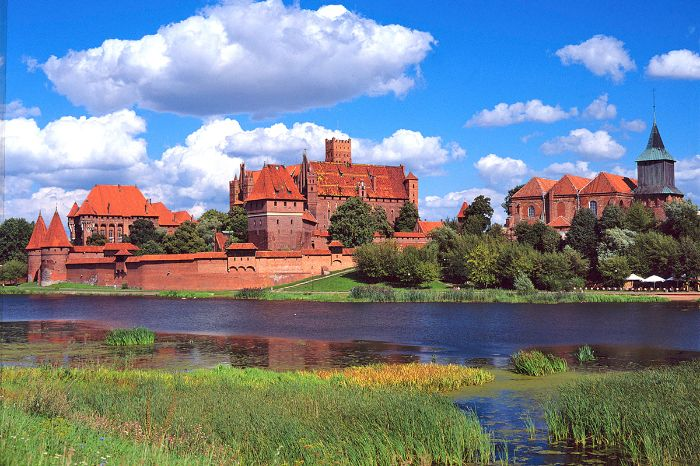 Marienburg am Fluss Nogat