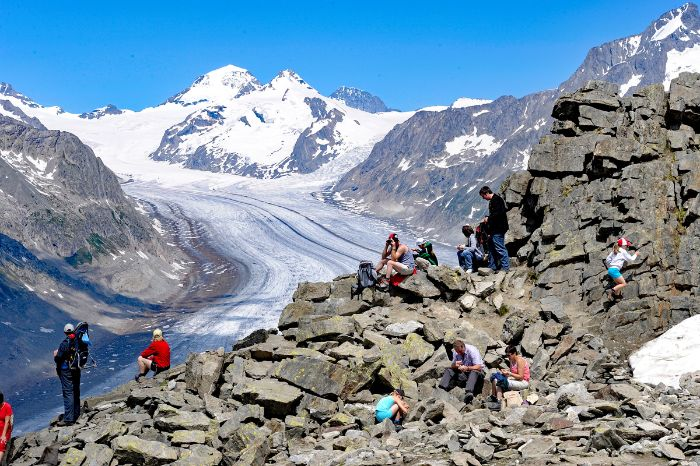 Stunning view at the Aletsch Glacier